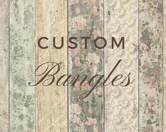 Custom Bangle - Personalized Bangle