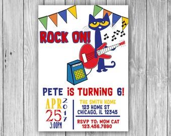 Pete the Cat Invitation (Digital)