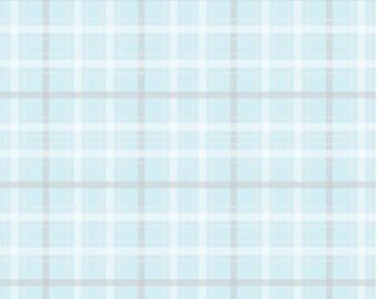 FREE GIFT with Purchase - Riley Blake Skies Plaid Blue/Metallic Gold/Cotton/Fabrics/Sewing/Quilting/Quilt