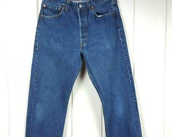 """Vintage Levis 501 501XX Dark Blue Wash Button Fly 30.5"""" x 34.5"""