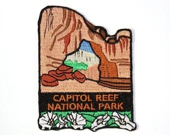 Official Capitol Reef National Park Souvenir Patch Utah Hickman Bridge Capital