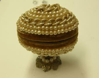 Vintage Egg Shaped Trinket Box