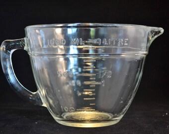 Vintage Anchor Hocking Batter Bowl 4 Cup Measuring Cup