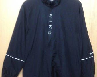 Rare !!! Vintage Nike Windbreaker Jacket Spellout Large Size