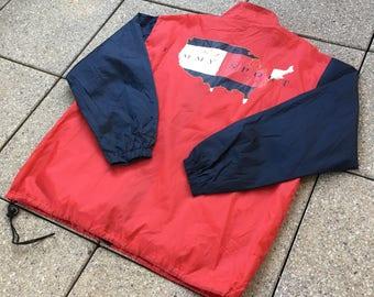 Vintage TOMMY HILFIGER BOOTLEG Jacket / Windbreaker 90s Rare