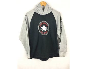 CONVERSE All Star Chuck Taylor Long Sleeve Medium Size Hoodies with Big Logo