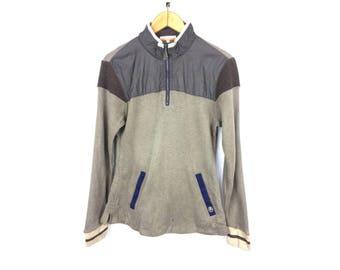 CASTLEBAJAC Sweatshirt Long Sleeve Neck Zipper Size 3 or Small Size