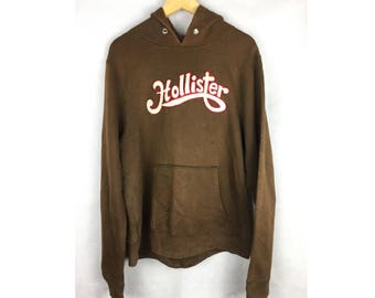 HOLLISTER Long Sleeve Hoodies With Big Logo Large Size Hoodies