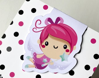 Magnetic Bookmark. Spring Fairy shaped Magnetic Bookmark. For books, planners and notebooks.