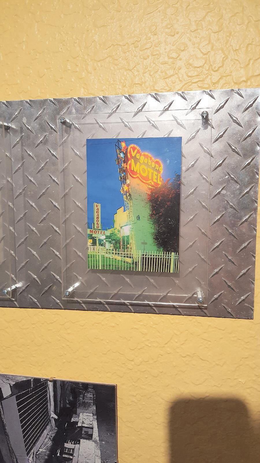 Diamond plate photo frame industrial style with acrylic floating diamond plate photo frame industrial style with acrylic floating frame 5x7 8x10 or 11x14 diamond plate picture frame jeuxipadfo Choice Image