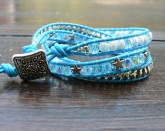 Wrap bracelet, bohemian style