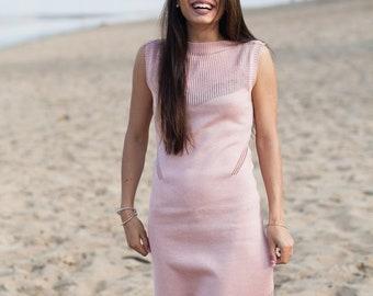 cotton wear summer pink dress women long summer dress women evening dress cotton women suit sleeveless clothing wear beach fashion dress