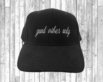 Good Vibes Only Embroidered Baseball Cap 6 Panel Fashion Hat Tumblr Pintrest Trends