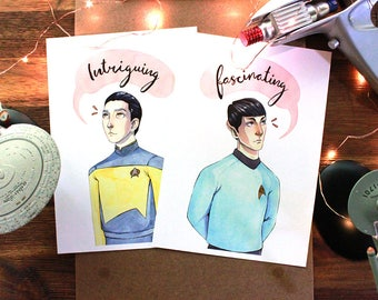 Spock & Data Prints - Star Trek