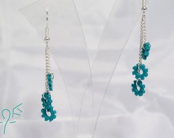 Triple Small Cog Chain Earrings
