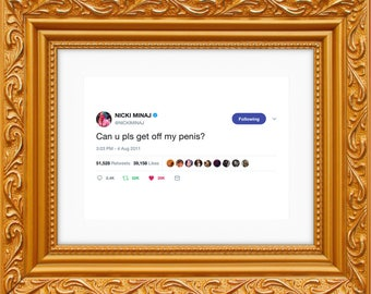 Nicki Minaj Framed Tweet — Can U Pls