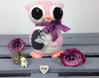 Decorative Pink Owl