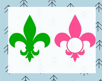 Fleur de lis svg files for Cricut fleur de lis dxf mardi gras svg for Silhouette vector cut file svg cutting file svg cut files monogram svg