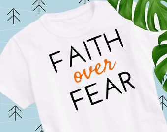 Faith Over Fear svg sayings svg motivational svg christian svg quote cut files cutting file Svg Files for Cricut Silhouette svg  lfvs