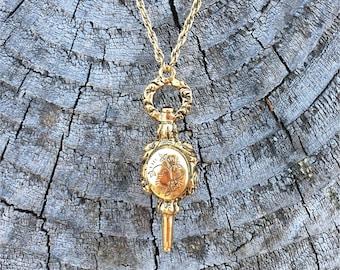 Fireplace Bellow Locket | Steampunk | 1928 Jewelry | Vintage