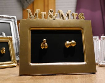 Mr & Mrs Ass with vagina + penis JANOSCHART wedding gift/art/Funny/crazy Unique