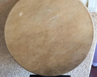 """Handmade 16"""" drum with Elk Hide head"""