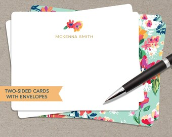 Stationery for Her - Personalized Stationery - Gifts for Her - Floral