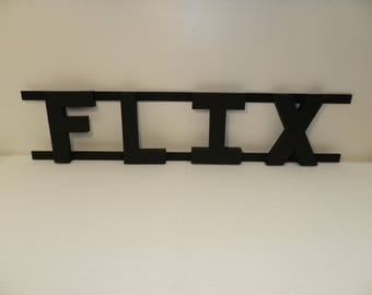 FLIX Sign Movie Theater Room Decor