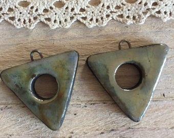 Set of ceramic pendants