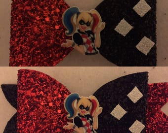 Harley quinn hair clip