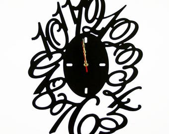 Fashion Art wall clock, Modern wall clock, Wall clock with numbers