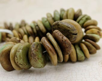 Jasper Beads, Rough Flat Nugget Chip Jasper Beads (Assorted Size)