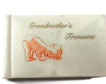 Grandmother's Treasures Photo Book, Brag Book, Baby Photo Album, Grandmother Brag book, Grandmother Baby Photo Book, Vintage Baby Photo