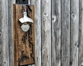 Magnetic Wall Mount Bottle Opener - Lichtenberg