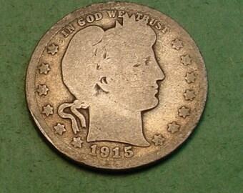 Barber Quarter 1915-D <> # ET3795