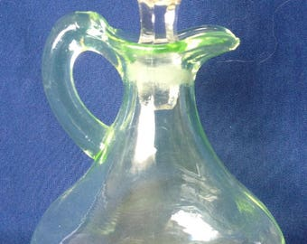 Uranium Green Glass Cruet
