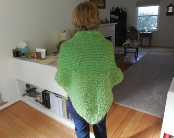 Elegant in Lime Green Shawl