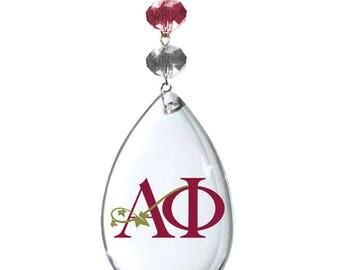 AP Logo Crystal -Badge- ALPHA PHI Sorority Magnetic Ornament/Alpha phi Decor/Ap Ornament/Alpha Phi Dorm Room Decor