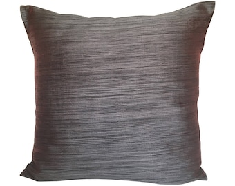 Charcoal Grey Pillow Cover, Minimalist Pillow Covers, Gray Throw Pillow
