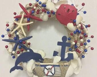 Patriotic Sailor Wreath