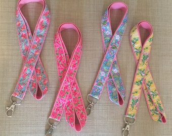 Lilly Pulitzer Inspired Lanyards, Keys, Badge Clip, ID Holder