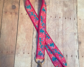 Lanyard, Badge Clip, Lilly Pulitzer Inspired, ID Holder