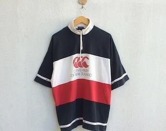 Vintage Canterbury New Zealand Shirt Big Logo Multicolor