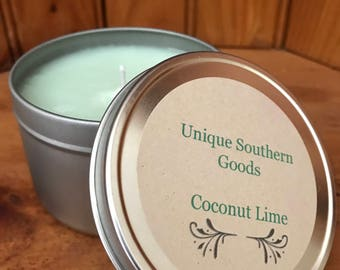 8oz Coconut Lime soy candle