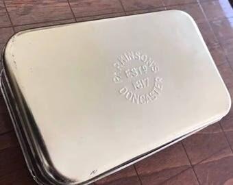 Vintage Parkinson's Doncaster Gold Butterscotch Tin Canister