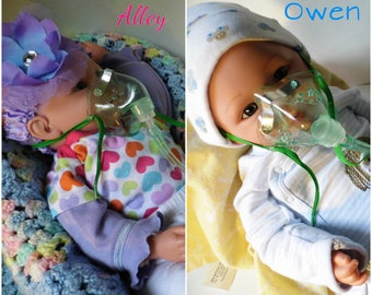 Alley/Owen | Breathing Machine | Asthma Doll | Allergy Doll | Breathing Doll | Hypoallergenic Doll | Allergy Friendly Toy
