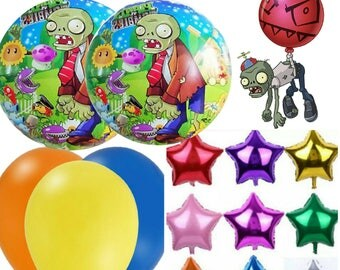 plants vs zombies balloon 10pc set with ribbons