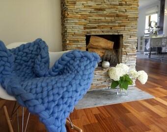 grobstrick strick decke stricken wolle gestrickte decke. Black Bedroom Furniture Sets. Home Design Ideas