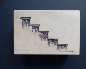 Stairs - Risers  - Wood Mount - Rubber Stamp (1)