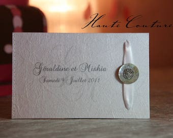 """Haute Couture"" jewelry rhinestone wedding announcements"